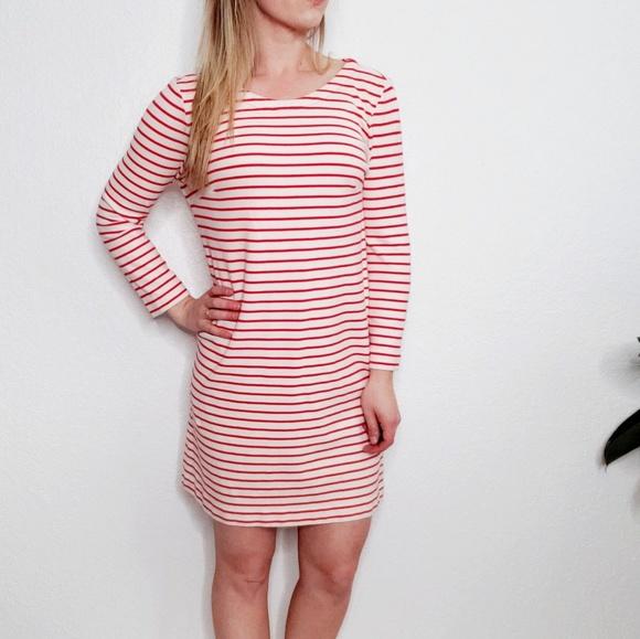 J. Crew Factory Dresses & Skirts - J Crew Factory Red Striped Nautical Mini Dress 417